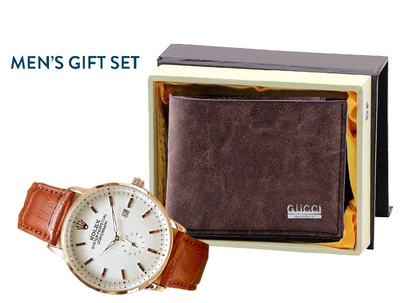Men's Wallet & Watch Combo Pack