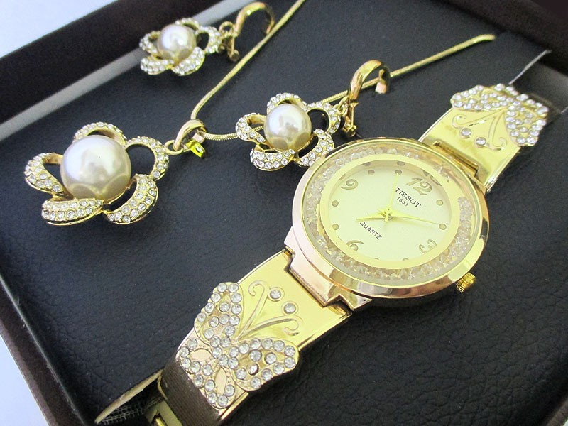 Elegant Jewellery & Watch Gift Set