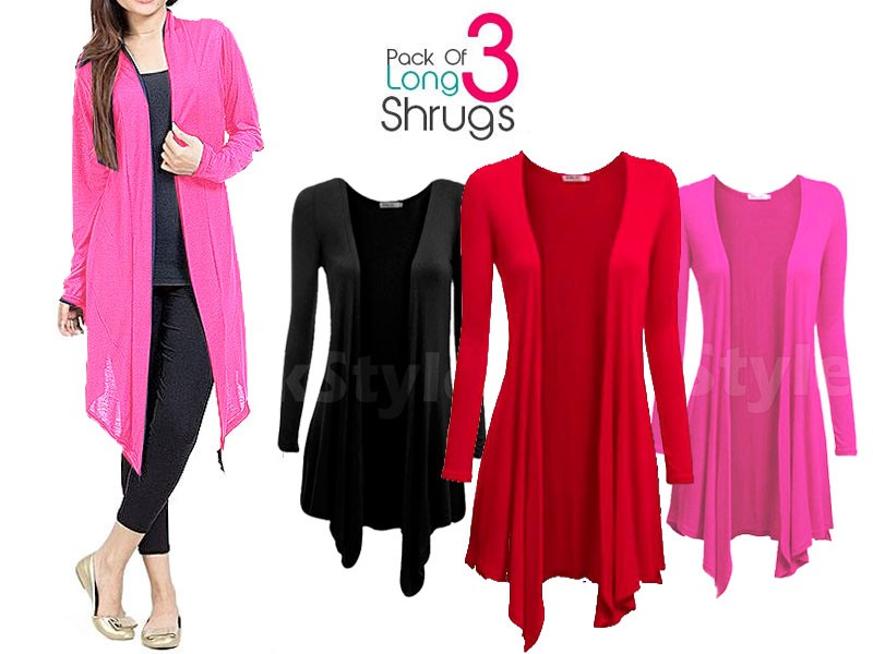 3 Women's Shrugs Bundle Pack Price in Pakistan