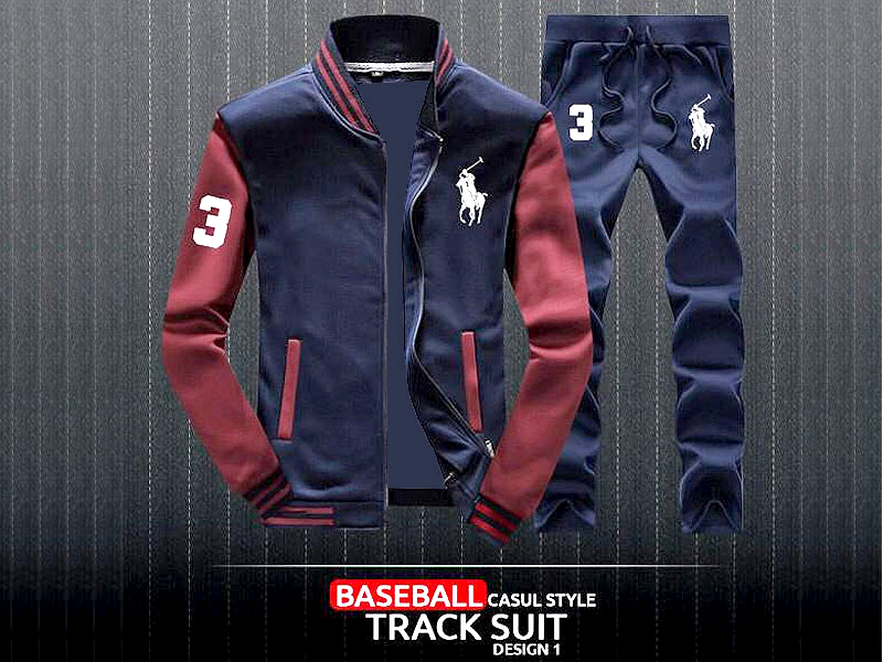 Combo of 2 Men's Baseball Jacket with Trouser