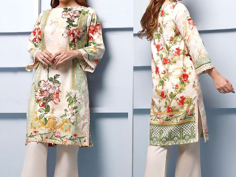 Luxury Embroidered Airjet Lawn Dress 2020 with Chiffon Dupatta Price in Pakistan