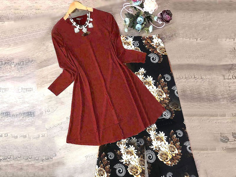 Digital Print Sleeveless Kurti with Tights Price in Pakistan