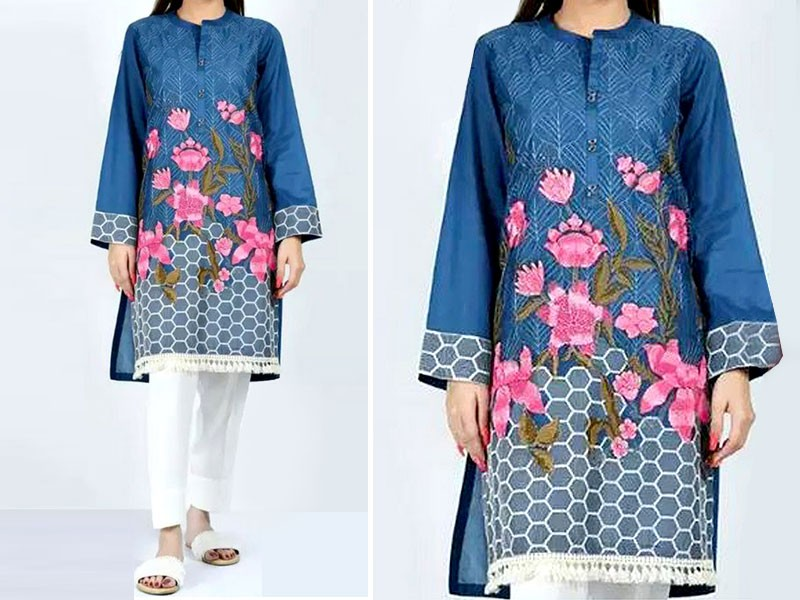 2-Pcs Sequins Embroidered Lawn Dress Price in Pakistan