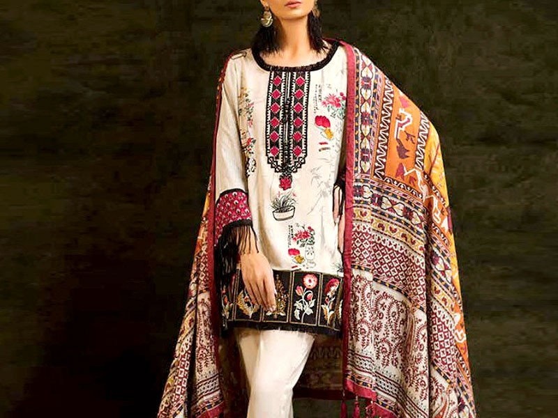 Embroidered Airjet Lawn Suit with Chiffon Dupatta Price in Pakistan