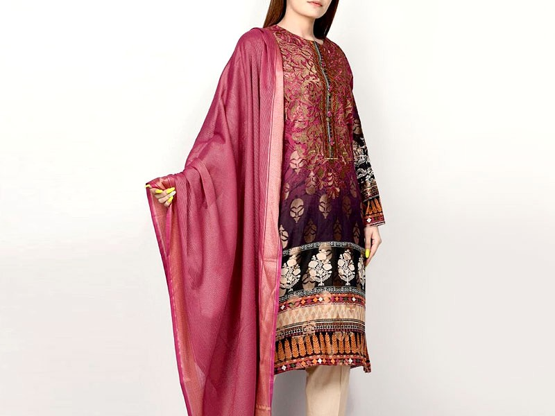 Embroidered Lawn Dress with Lawn Dupatta Price in Pakistan