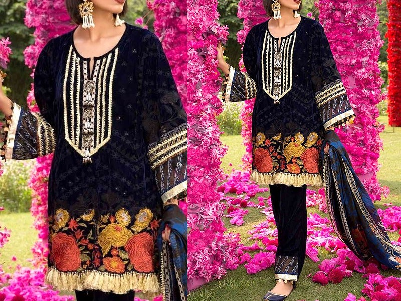 Heavy Embroidered Lawn Dress 2020 with Chiffon Dupatta Price in Pakistan