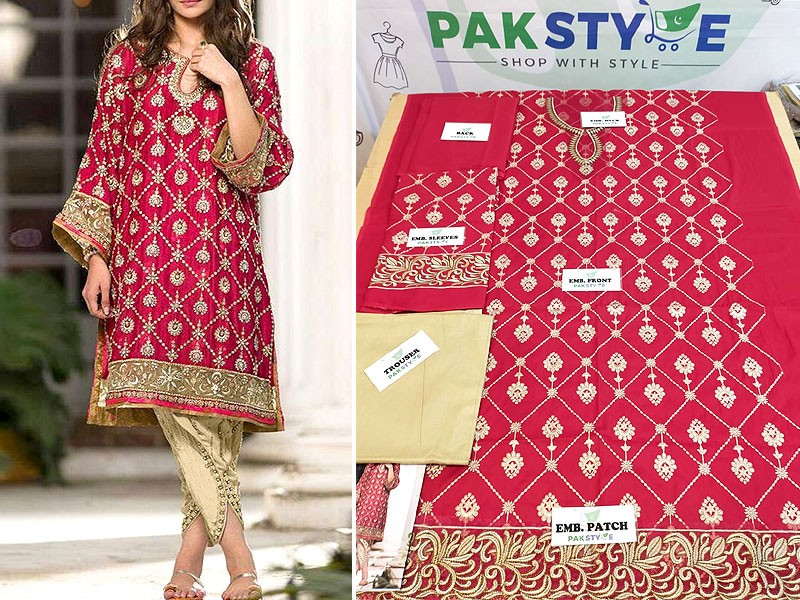 Trendy 2-Piece Heavy Embroidered Lawn Dress