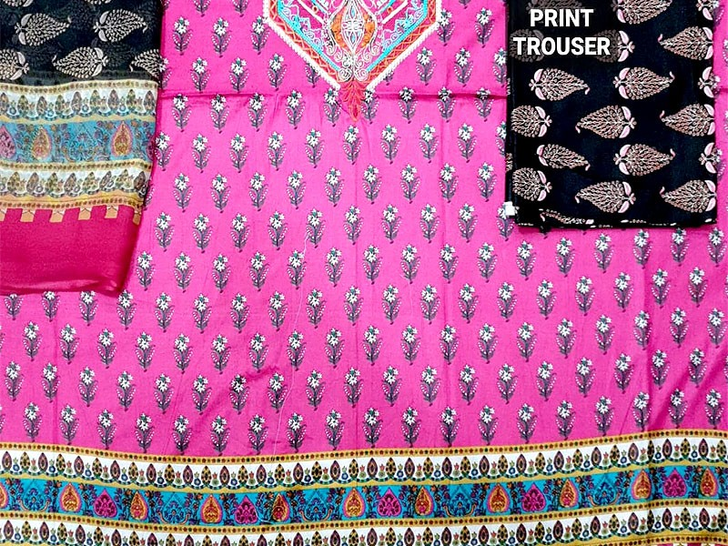 Embroidered Lawn Suit 2020 with Chiffon Dupatta