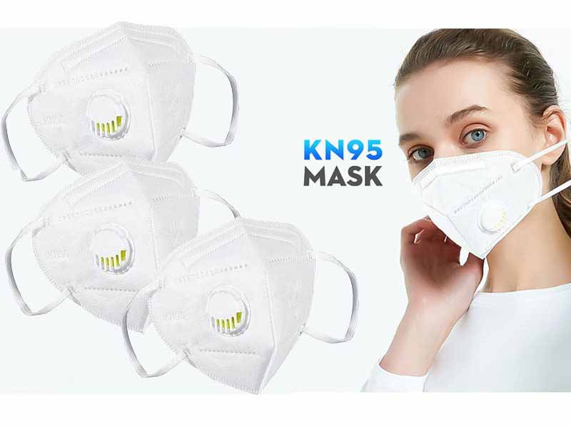 Pack of 5 Reusable KN95 Masks with Filter
