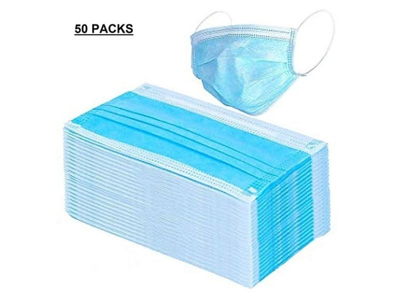Pack of 50 3-Ply Surgical Face Masks