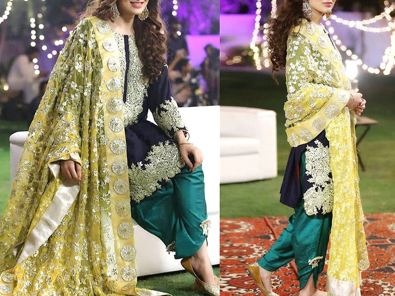Handwork Embroidered Chiffon Wedding Dress Price in Pakistan