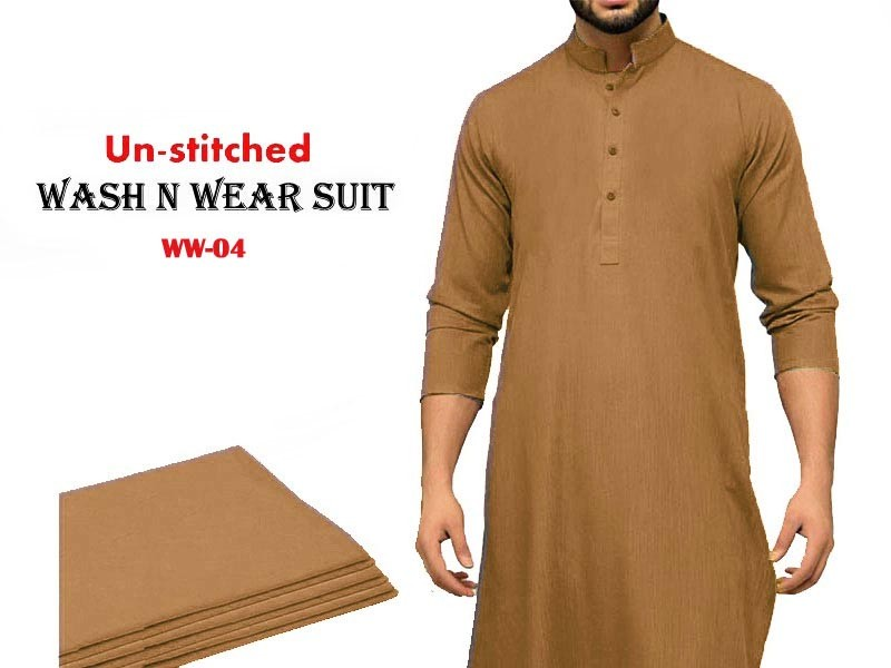 Wash n Wear Unstitched Men's Shalwar Kameez Price in Pakistan