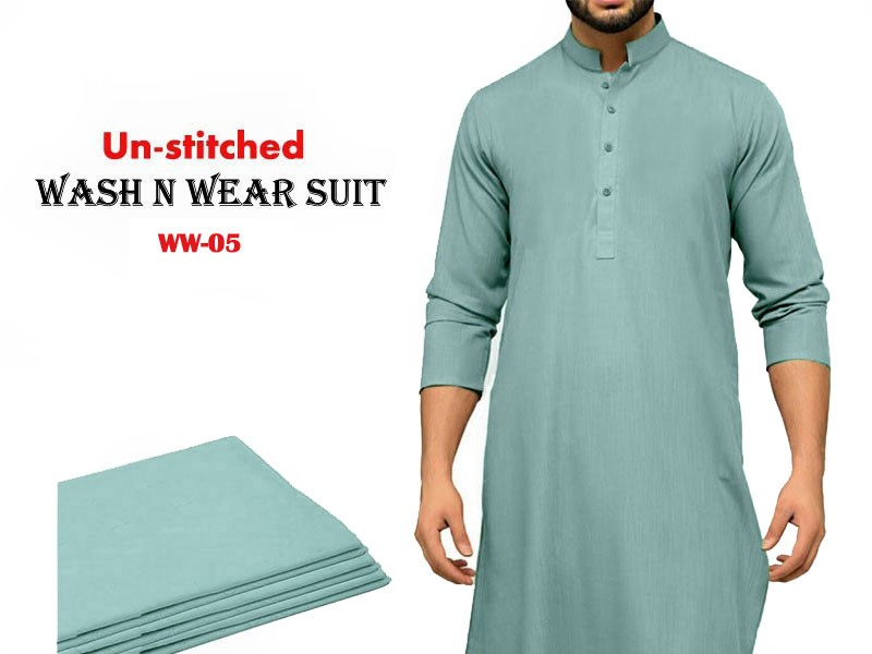 Wash n Wear Unstitched Men's Shalwar Kameez