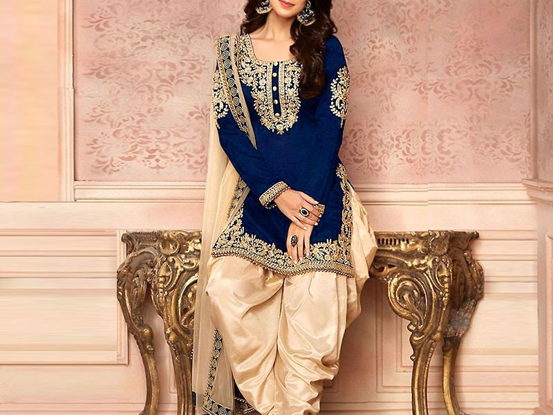 Embroidered Cotton Dress with Embroidered Net Dupatta Price in Pakistan