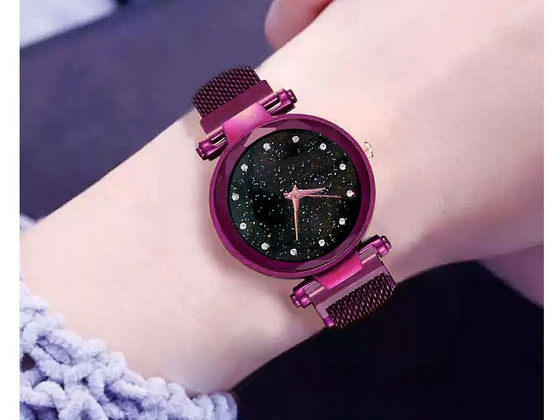 Magnetic Strap Ladies Watch - Purple