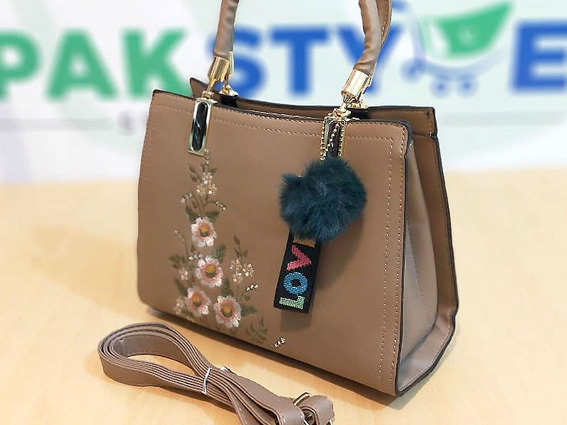 Trendy Women's Handbag with Hanging Charms