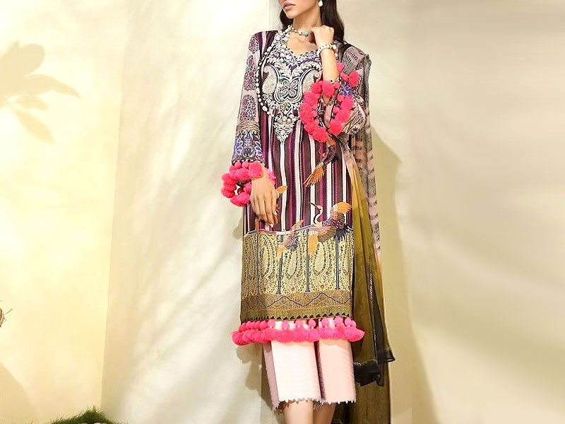 Elegant Embroidered Navy Blue Bridal Velvet Shawl Price in Pakistan