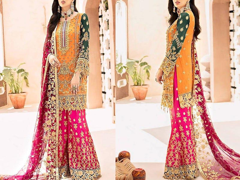 Luxury Embroidered Organza Wedding Dress Price in Pakistan