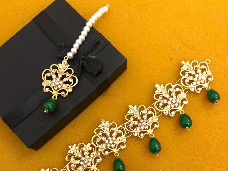 Elegant Golden Jewellery Set