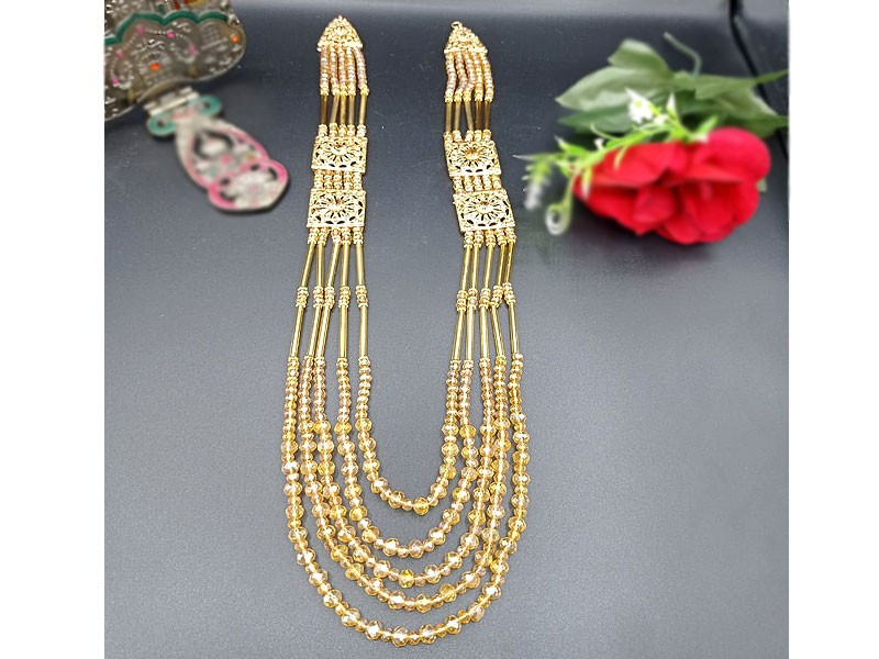 5 Layers Golden Beads Mala Price in Pakistan