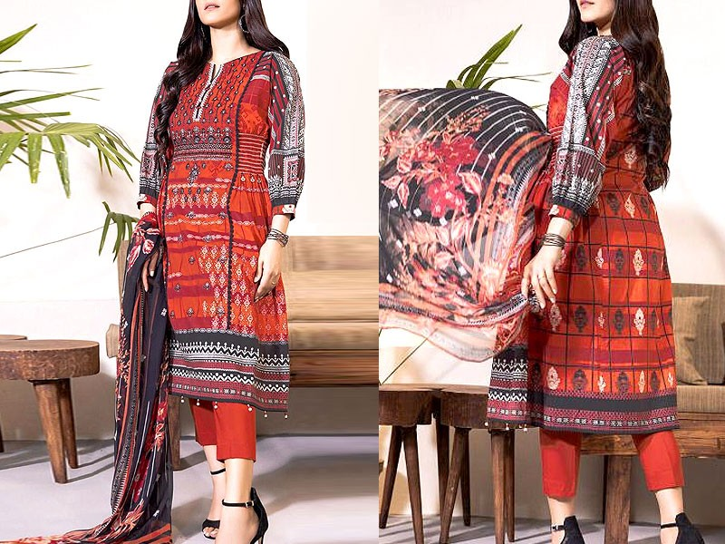 2-Pcs Embroidered Black Linen Dress 2020 Price in Pakistan