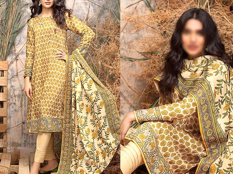 Digital Print Khaddar Dress with Pashmina Shawl Price in Pakistan