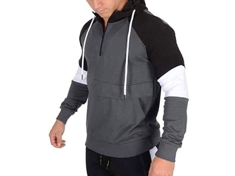 Stylish Men's Pattern Fleece Hoodie Price in Pakistan
