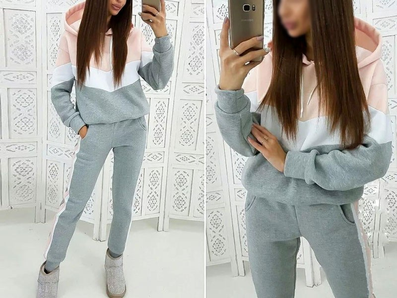 Women's Cross Panel Track Suit