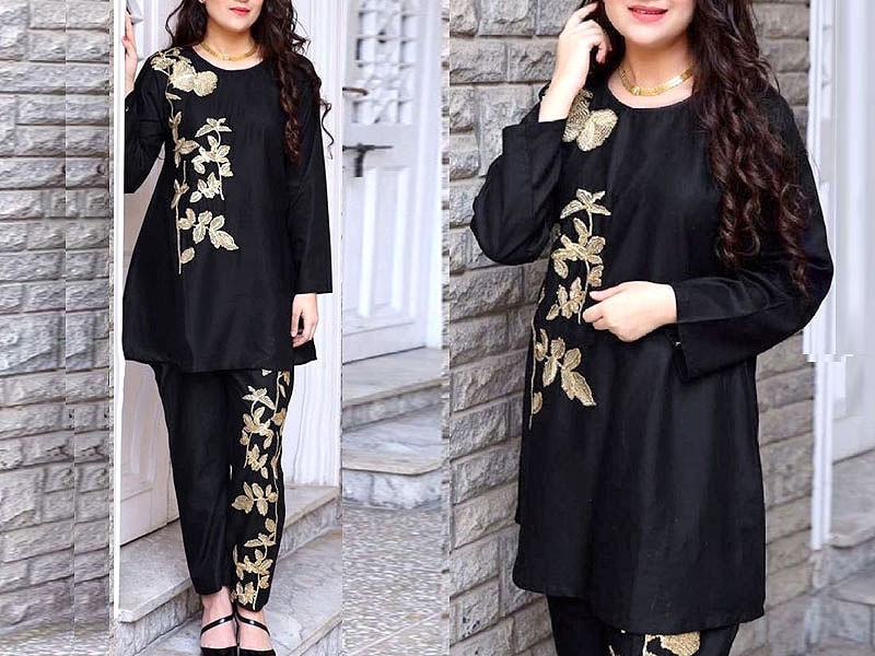 2-Pcs Ready Made Embroidered Boski Linen Dress Price in Pakistan