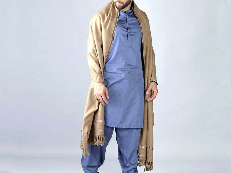 Traditional Men's Winter Shawl - Skin Price in Pakistan