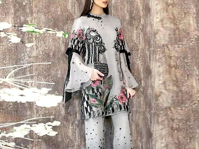 2-Pcs Sequins Embroidered Lawn Dress 2021