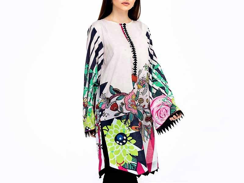 Embroidered Boski Linen Butterfly Poncho Top Price in Pakistan