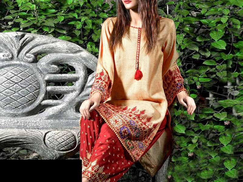 2-Pcs Sequins Heavy Embroidered Lawn Dress 2021 Price in Pakistan