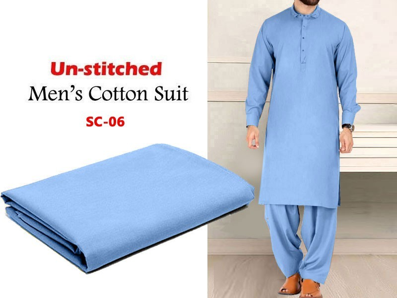 Unstitched Men's Soft Egyptian Cotton Shalwar Kameez