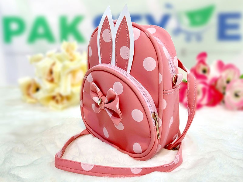 Polka Dots Mini Backpack for Kids - Pink Price in Pakistan