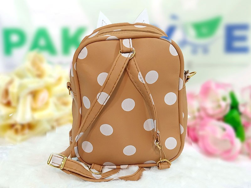 Polka Dots Mini Backpack for Kids - Mustard