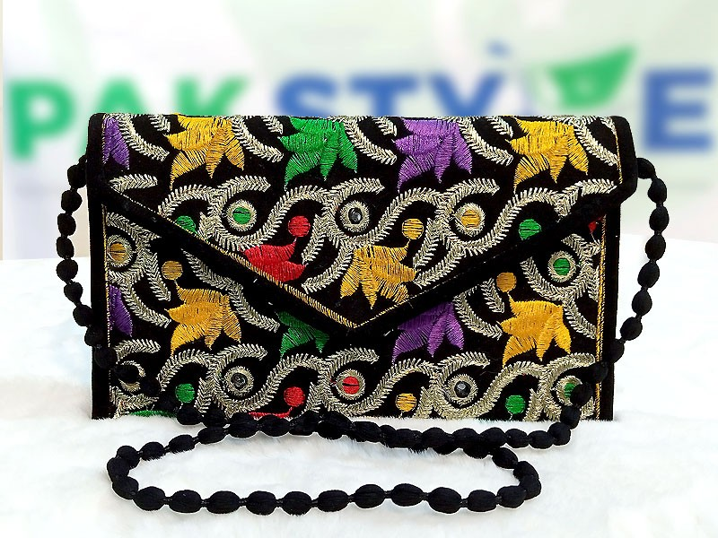 Ladies Embroidered Clutch Purse Price in Pakistan
