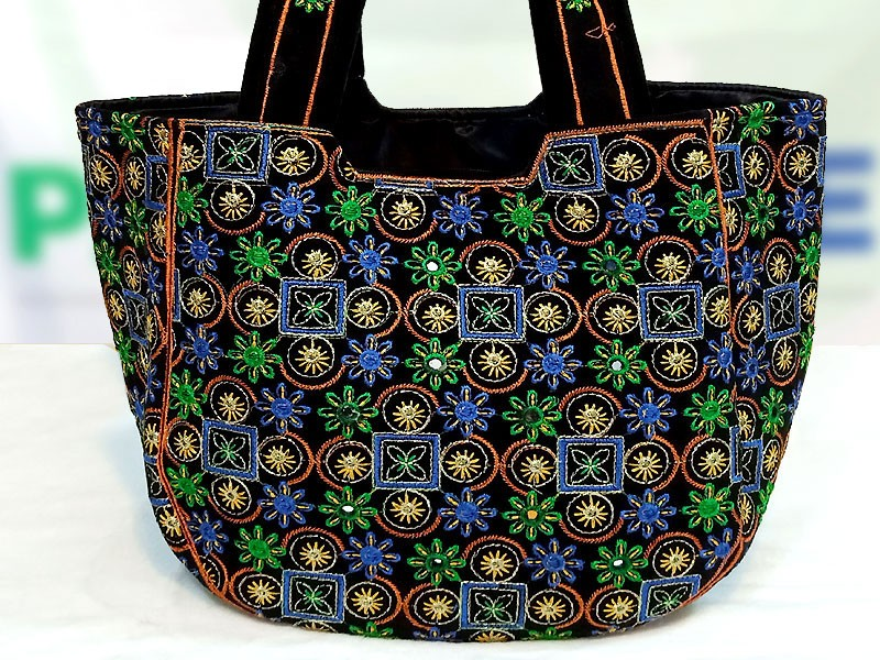 Traditional Style Embroidered Fabric Shoulder Bag