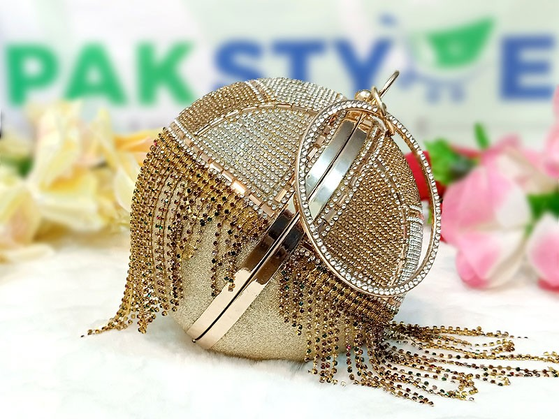 Luxury Ball Shaped Diamante Bridal Clutch Price in Pakistan