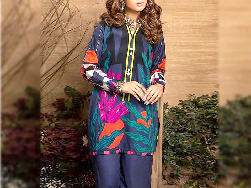 Digital Print Airjet Eid Lawn Suit 2021 with Digital Lawn Dupatta Price in Pakistan