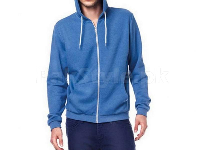 Plain Colors Blue Plain Blue Colored Zipper
