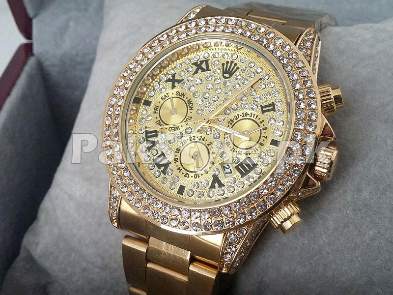 56b87949126 Stone Studed Golden Winner 24 Watch Price in Pakistan (M002714 ...