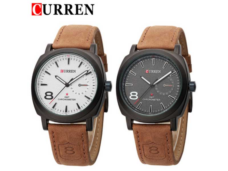 Pack of 2 curren watches 8139 price in pakistan m002874 check prices specs reviews Curren leisure style fashion watch price