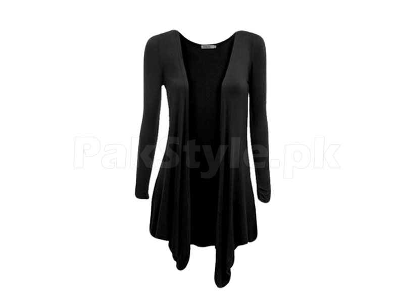 Women's Black Cotton Shrug
