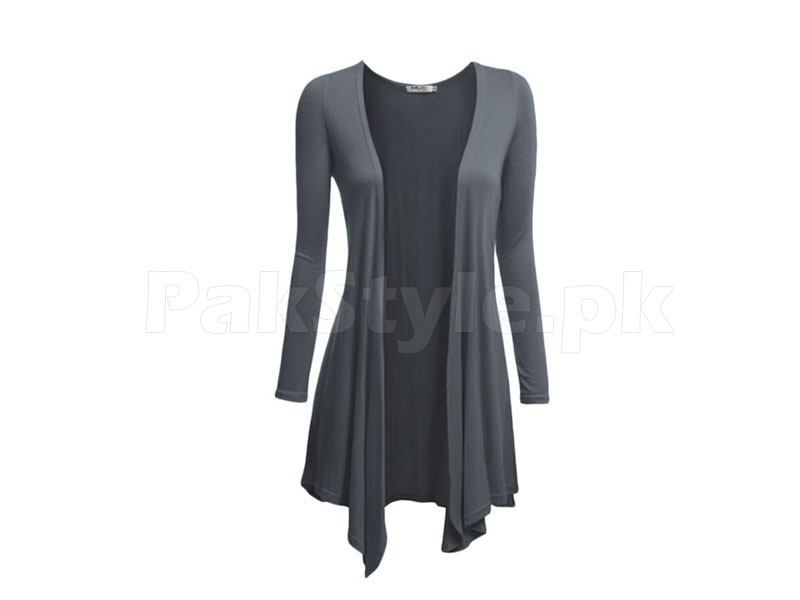 Women's Grey Cotton Shrug