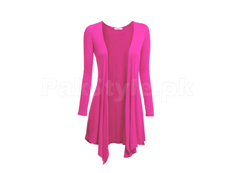 Ladies Pink Cotton Shrug
