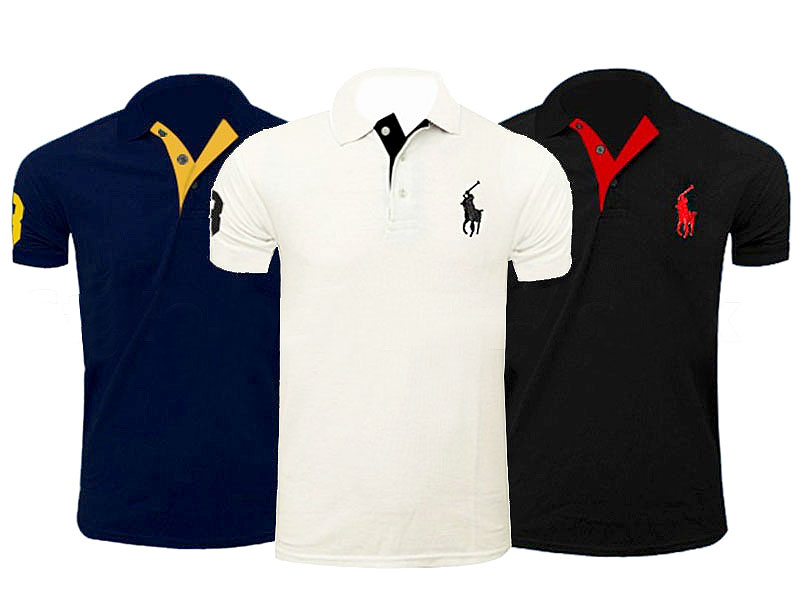 Pack of 3 Men's Polo Shirts