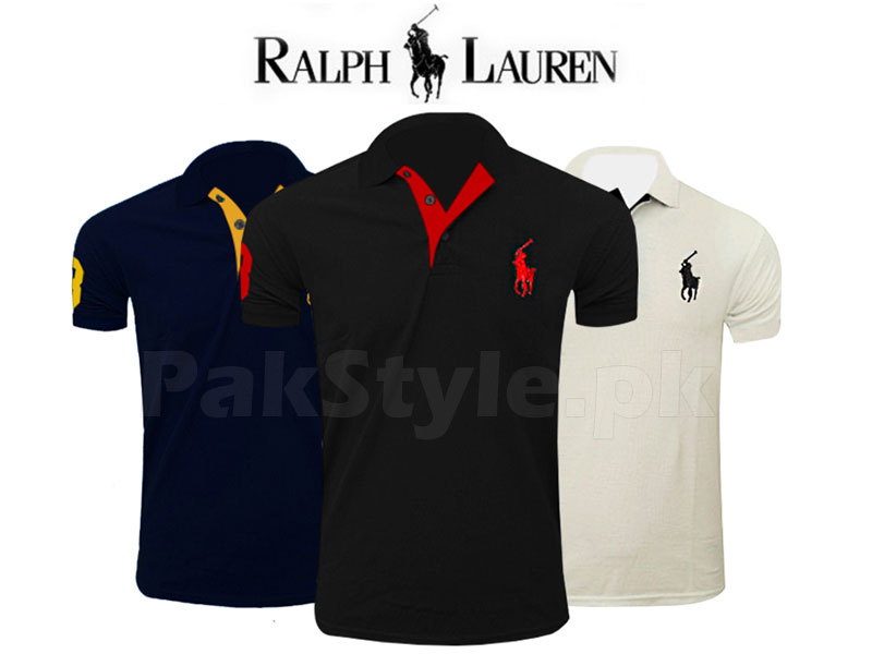 3 Ralph Lauren Polo Shirts