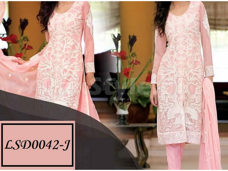 dce8752a61 3 Piece Semi Stitched Embroidered Chiffon Suit Price in Pakistan ...