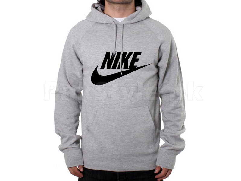 8e61a0541622 Nike Logo Pullover Hoodie - Grey Price in Pakistan (M003372) - 2019 ...